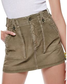 High-waist Military Skirt