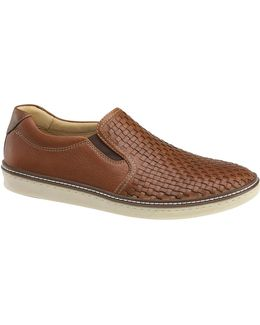 Mcguffey Leather Woven Slip-ons