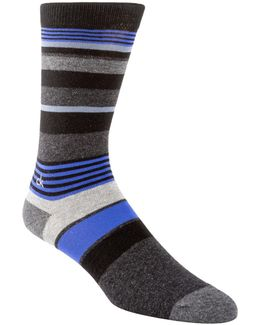 Multi Striped Crew Socks