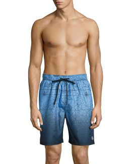 Classic Volley Ombre Map Shorts