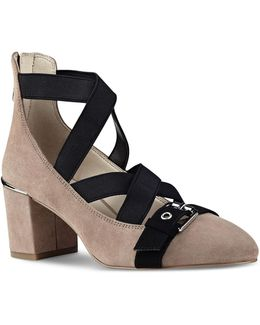 Strappy Suede Pumps