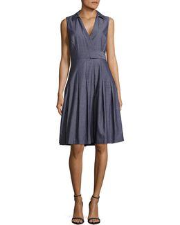 Cotton Surplice Dress