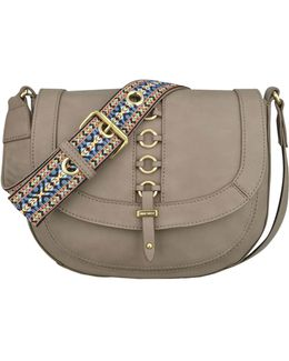 Benetta Ring Accented Saddle Bag