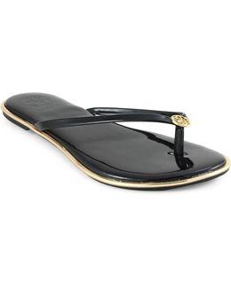 Beema Faux Leather Flipflops