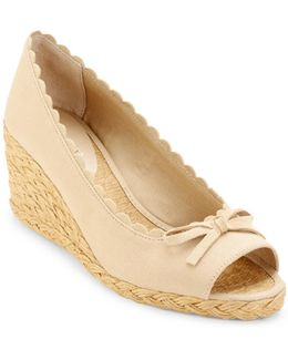 Chaning Peeptoe Espadrille Wedges