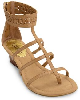 Meira Multi Strap Woven Wedge Sandals