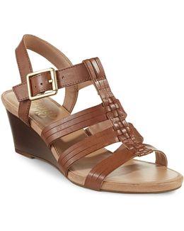 Derica Stacked Wedge Sandals