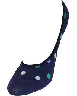 Multi Dot Liner Socks