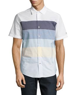 Engineered Stripe Sport Shirt