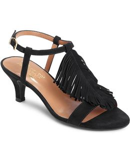 Charade Fringed Suede Sandals