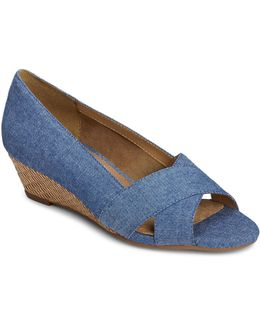 Shipmate Denim Wedge Sandals