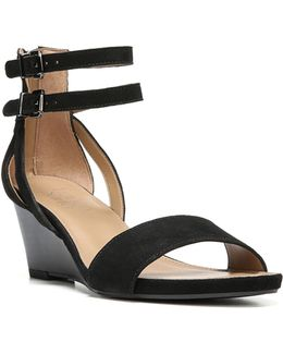 Danissa Suede Wedge Sandals