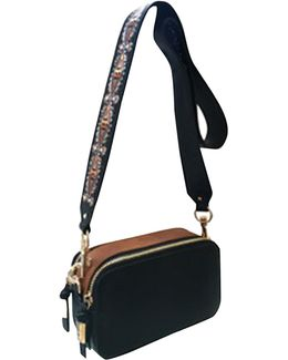 Brhett Embroidered Strap Crossbody Bag