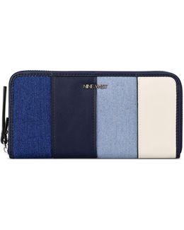 Colourblock Zip-around Wallet