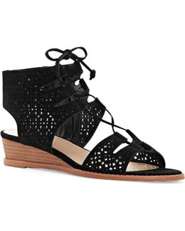 Retana Suede Wedge Sandals