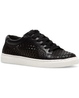 Birna Cutout Leather Sneakers