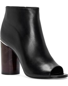 Reeta Polished Leather Booties