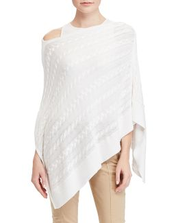 Plus Cable-knit Poncho