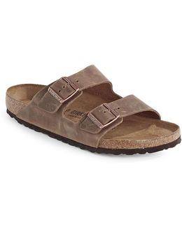 Arizona Two-strap Leather Sandals