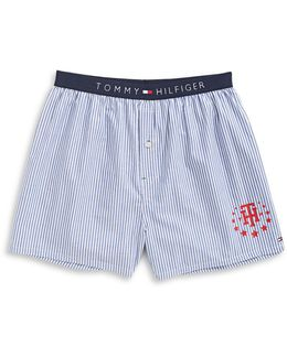 Striped Woven Boxer Shorts