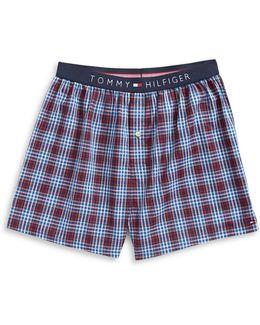 Checked Woven Boxer Shorts