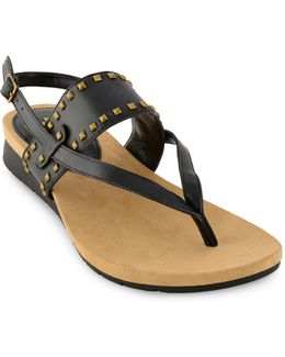 Ladee Burnished Leather Sandals