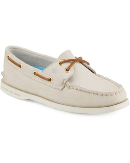 Authentic Originals 2 Eye Leather Boat Shoes