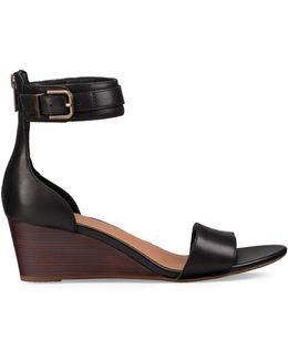 Daniella Leather Wedge Sandals