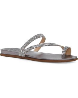 Evina Jewel Leather Sandals