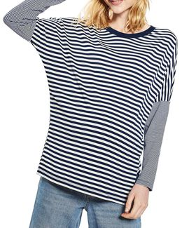 Maternity Slouch Striped Top