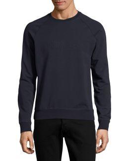 Stretch Cotton Logo Pullover