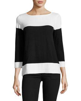 Long Sleeve Colourblock Sweater