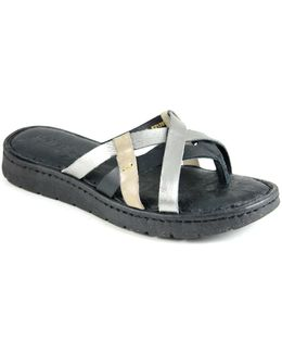 Buta Leather Slide Sandals