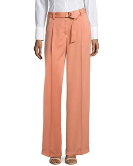 Belted Wide-leg Pants