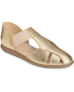 Believe Leather Flat Sandals