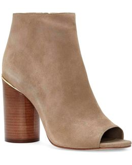 Reeta Polished Suede Booties