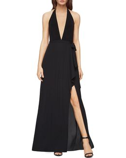 Angeline Deep V-halter Gown