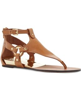 Averie Leather Thong Sandals