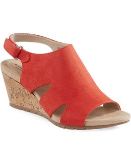 Wrap Wedge Sandals