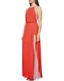 Camillia Halter Neck Colourblock Dress