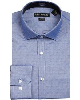 Geo Print Wrinkle Free Slim Fit Dress Shirt