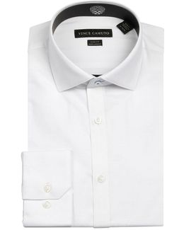 Slub Dobby Wrinkle Free Slim Fit Dress Shirt