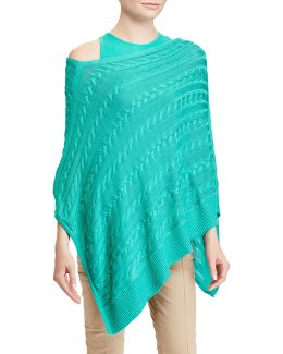 Cable-knit Poncho Sweater
