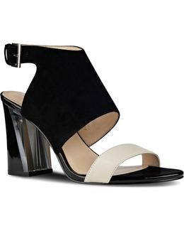 Mosh Suede Block Heel Sandals