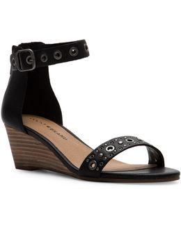 Jorey2 Leather Wedge Sandals