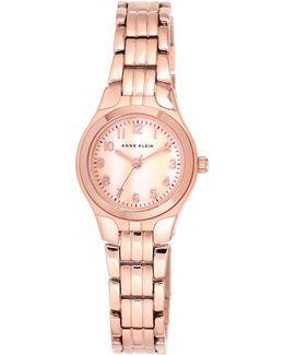 Analog Mother-of-pearl Dial Rose-goldtone Bracelet Watch