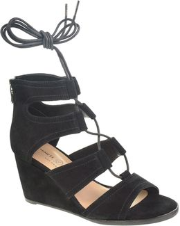 Ghillie Wedge Sandals