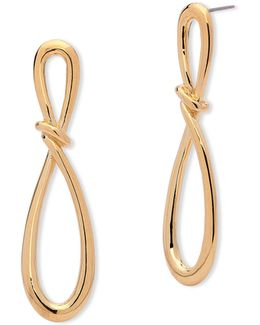 Going For Gold Twisted Loop Earrings