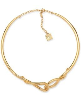 Going For Gold Linked Loop Collar Necklace