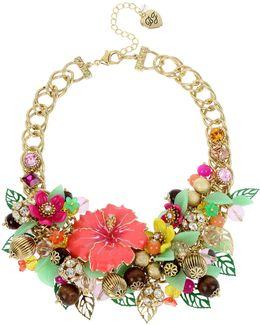 Tropical Statement Bib Necklace